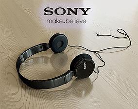 Sony MDR-ZX110AP headphones 3D