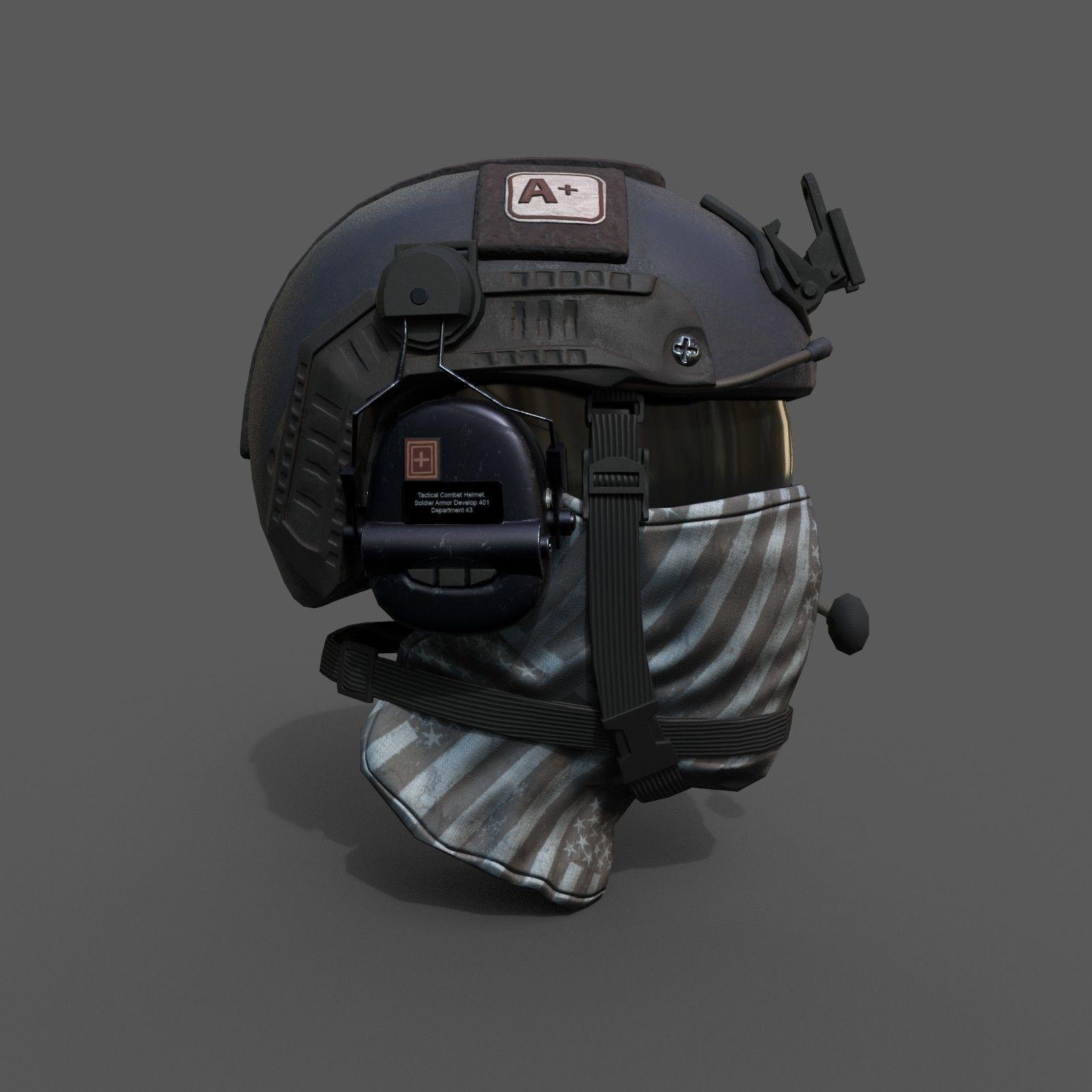 Helmet scifi military combat soldier ver 2