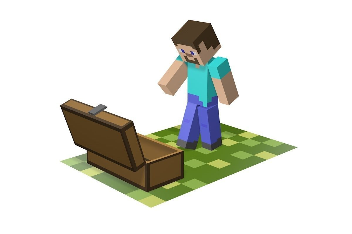 3d Model Minecraft Sad Steve Cgtrader