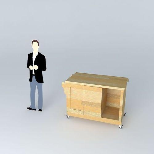 Mobile Kitchen Table Bench Free 3d Model Max Obj 3ds Fbx Stl Skp