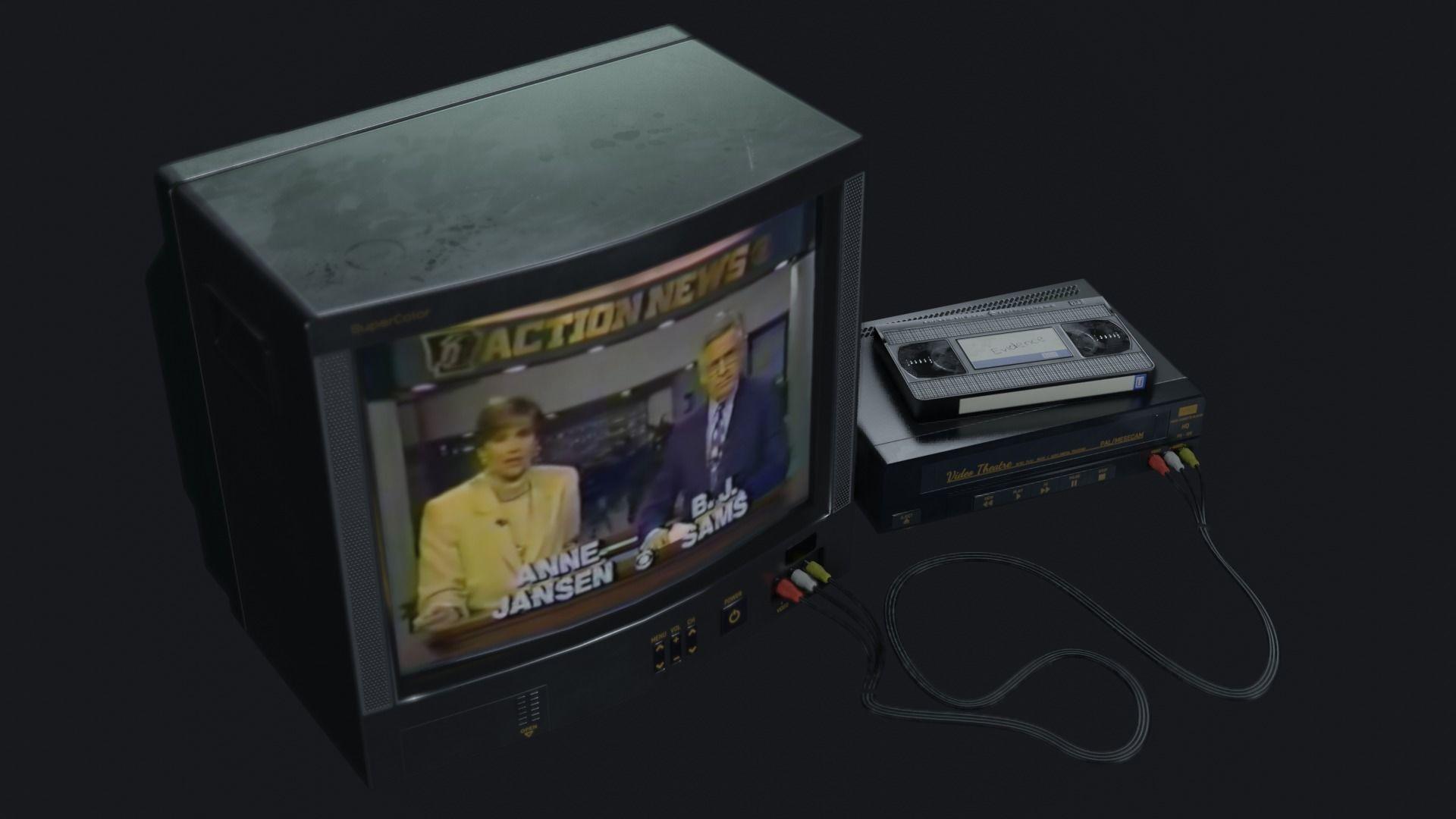 TV Set - PBR Game Ready