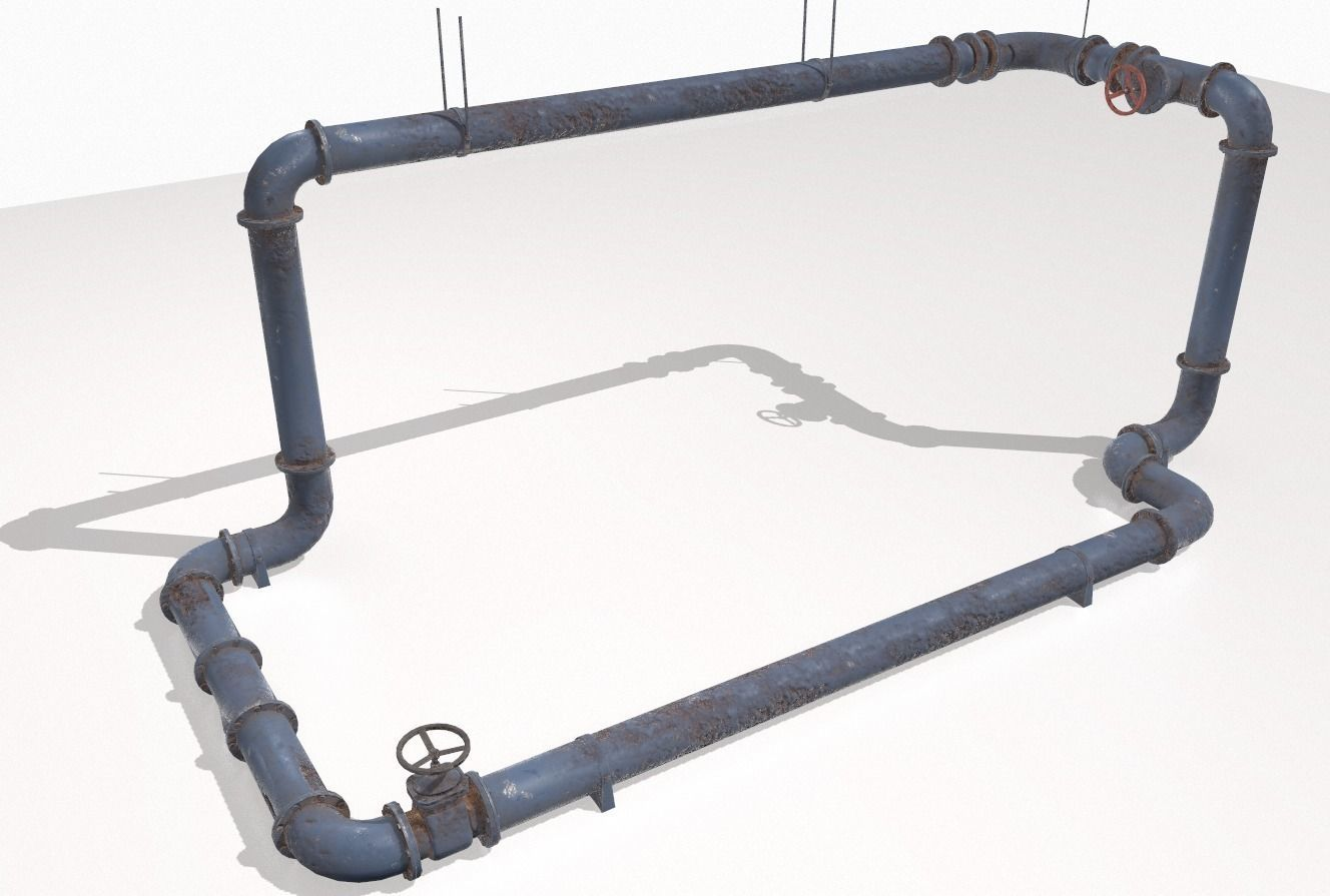 Modular rusty pipes pack 1