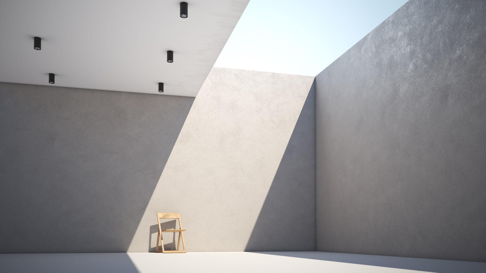 White Smooth Concrete Wall Texture