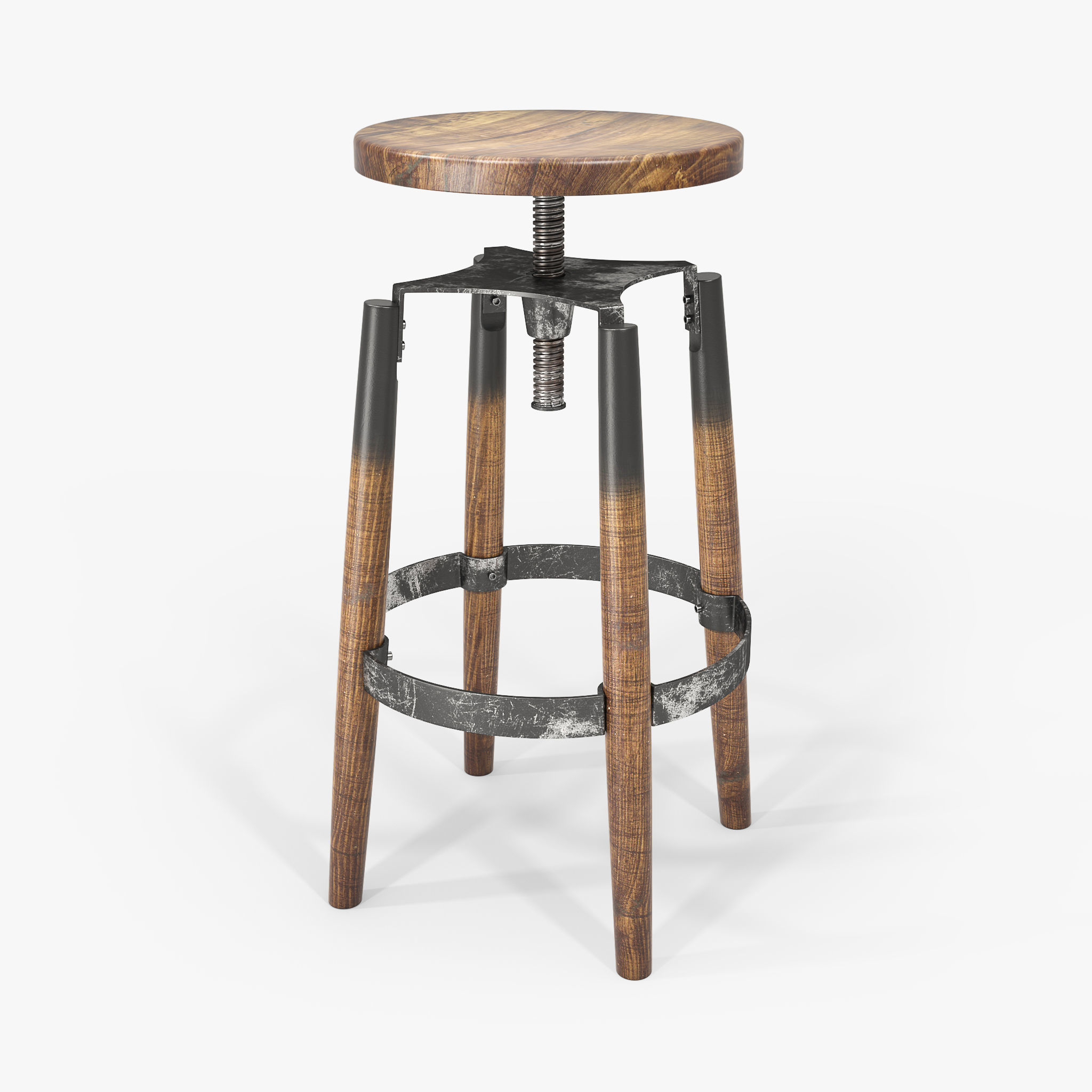 Incredible Industrial Bar Stool 3D Model Machost Co Dining Chair Design Ideas Machostcouk