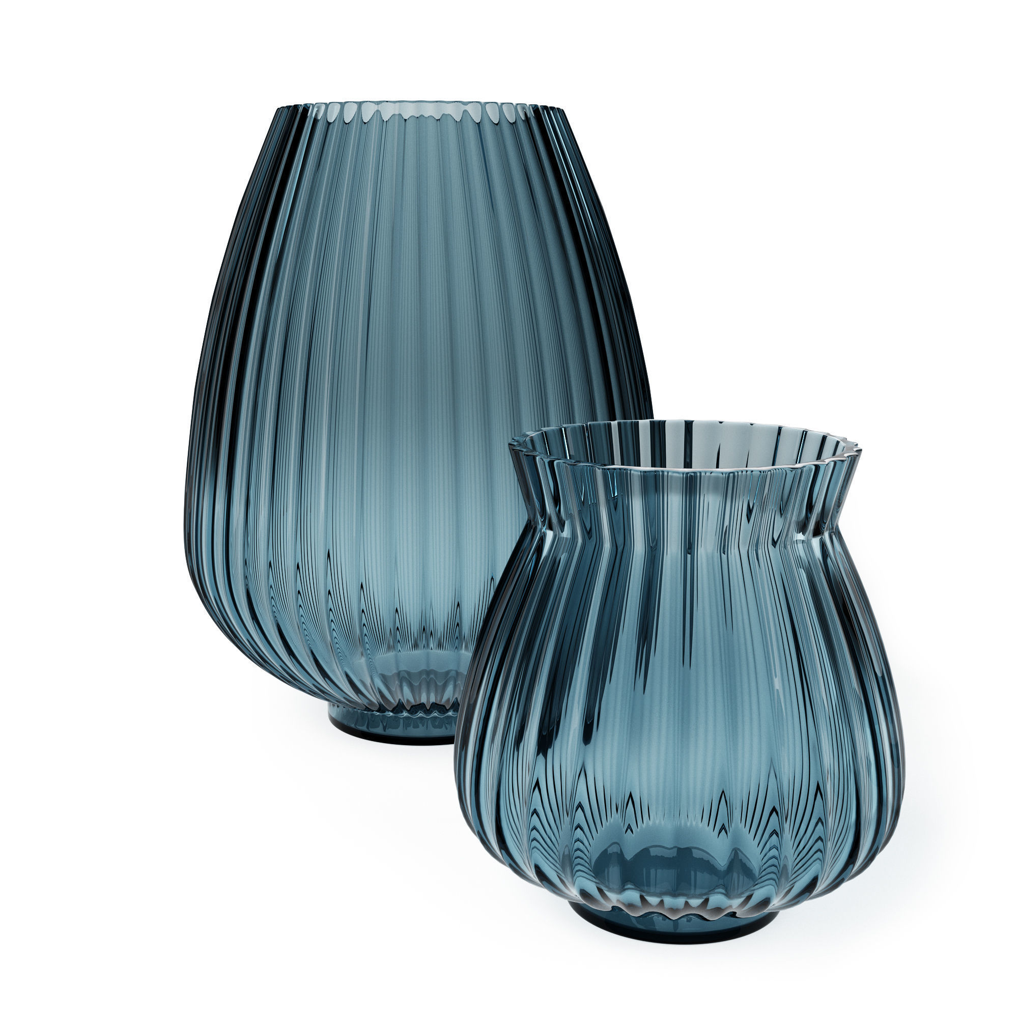 H and M - Blue Glass Vase