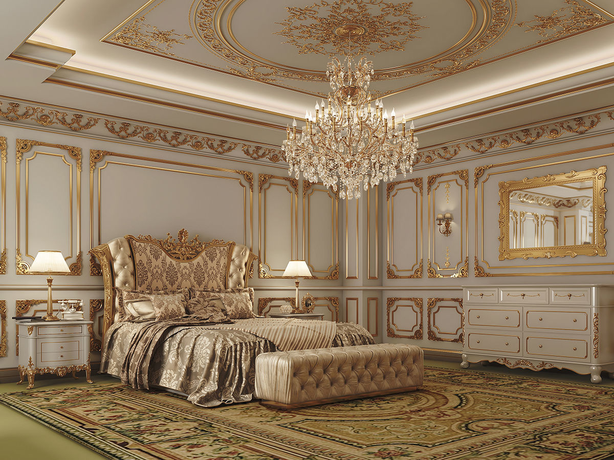 Master Bedroom Classic LOUIS XIV Style   3D model