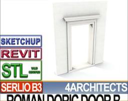 ancient roman door b revit stl printable
