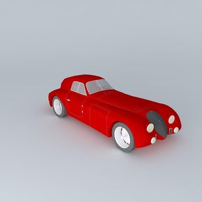 3d Model 1938 Alfa Romeo 8c 2900b