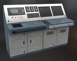 low-poly controlpanel02 3d model