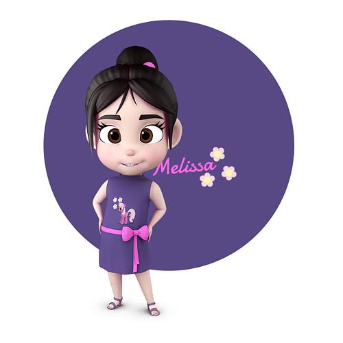 melissa stylised girl kid character 3d model max obj mtl 3ds fbx ma mb mel 1