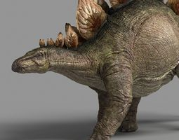 stegosaurus astil 3d model animated