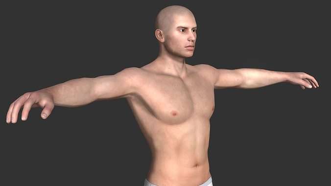 generic male base 3d model obj fbx mtl 1