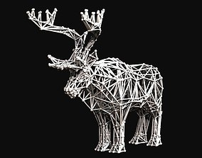 3D printable model VORONOI DEER