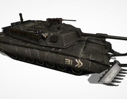 3d asset game-ready tank abrams