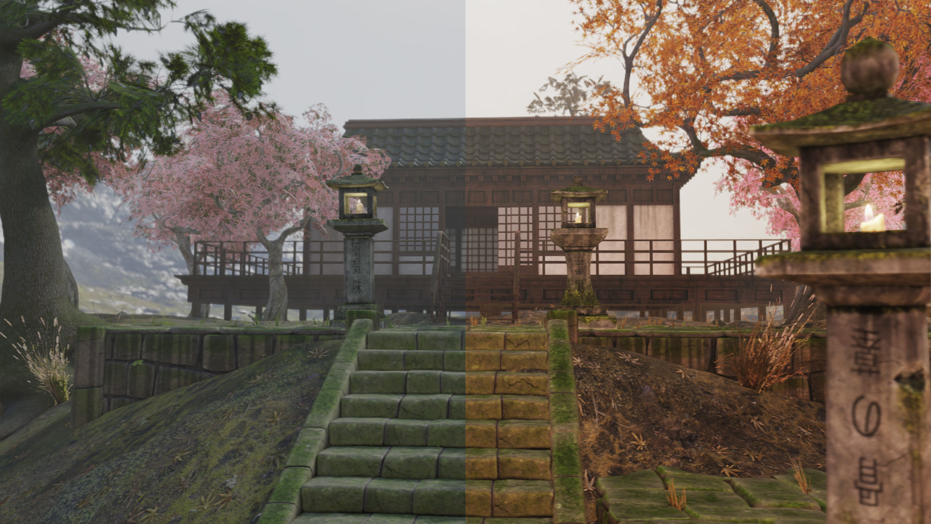 Low Poly Japanese Foliage Pack With PBR Materials