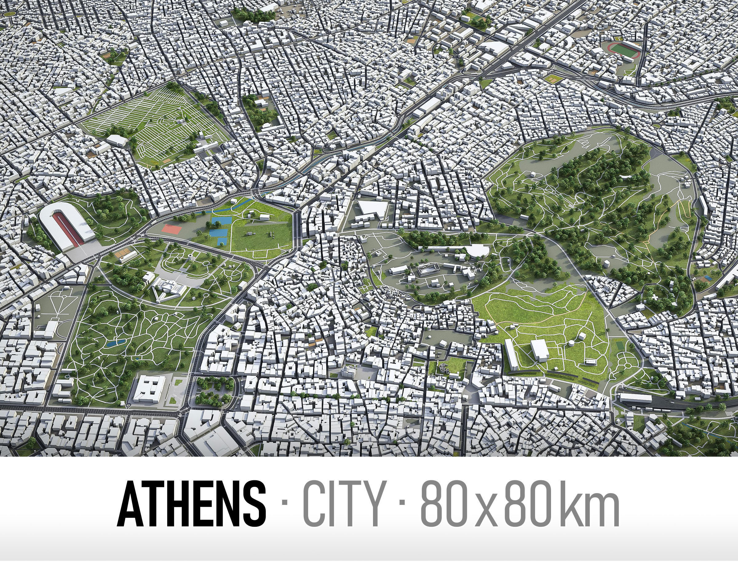Athens - city and surroundings