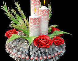 christmas candle  holder  3d model
