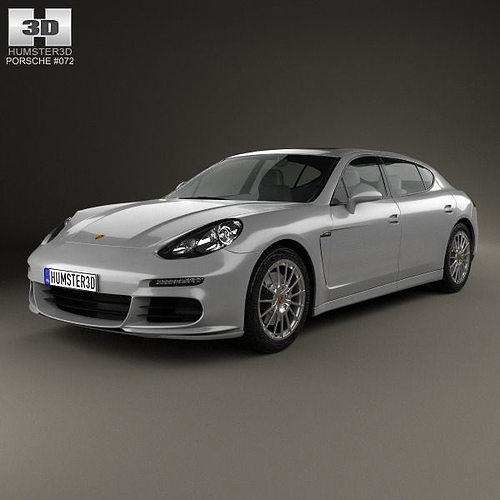 Porsche Panamera Car: Porsche Panamera Turbo Executive 2014 3D