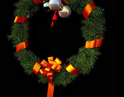 3d model decorative christmas wreath
