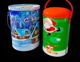 colorful christmas box 3d