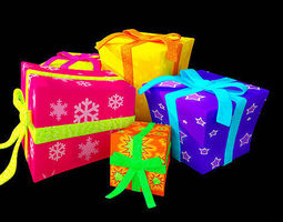 3D Colorful gift