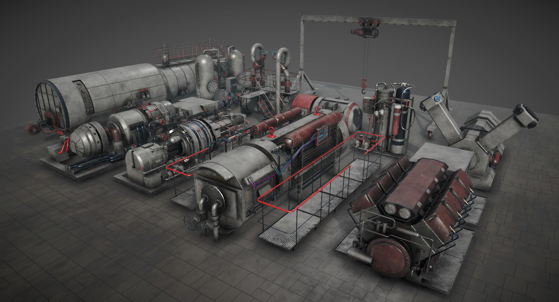 Machinery compartement devices for Unity