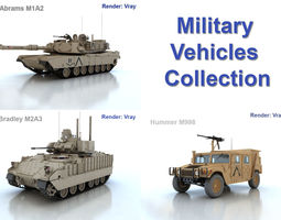 3d military vehicles collection