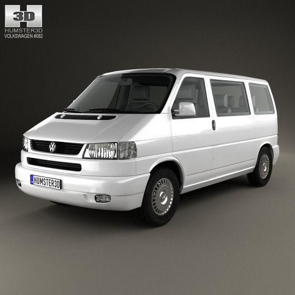 volkswagen transporter t4 caravelle 1996 3d model max obj. Black Bedroom Furniture Sets. Home Design Ideas