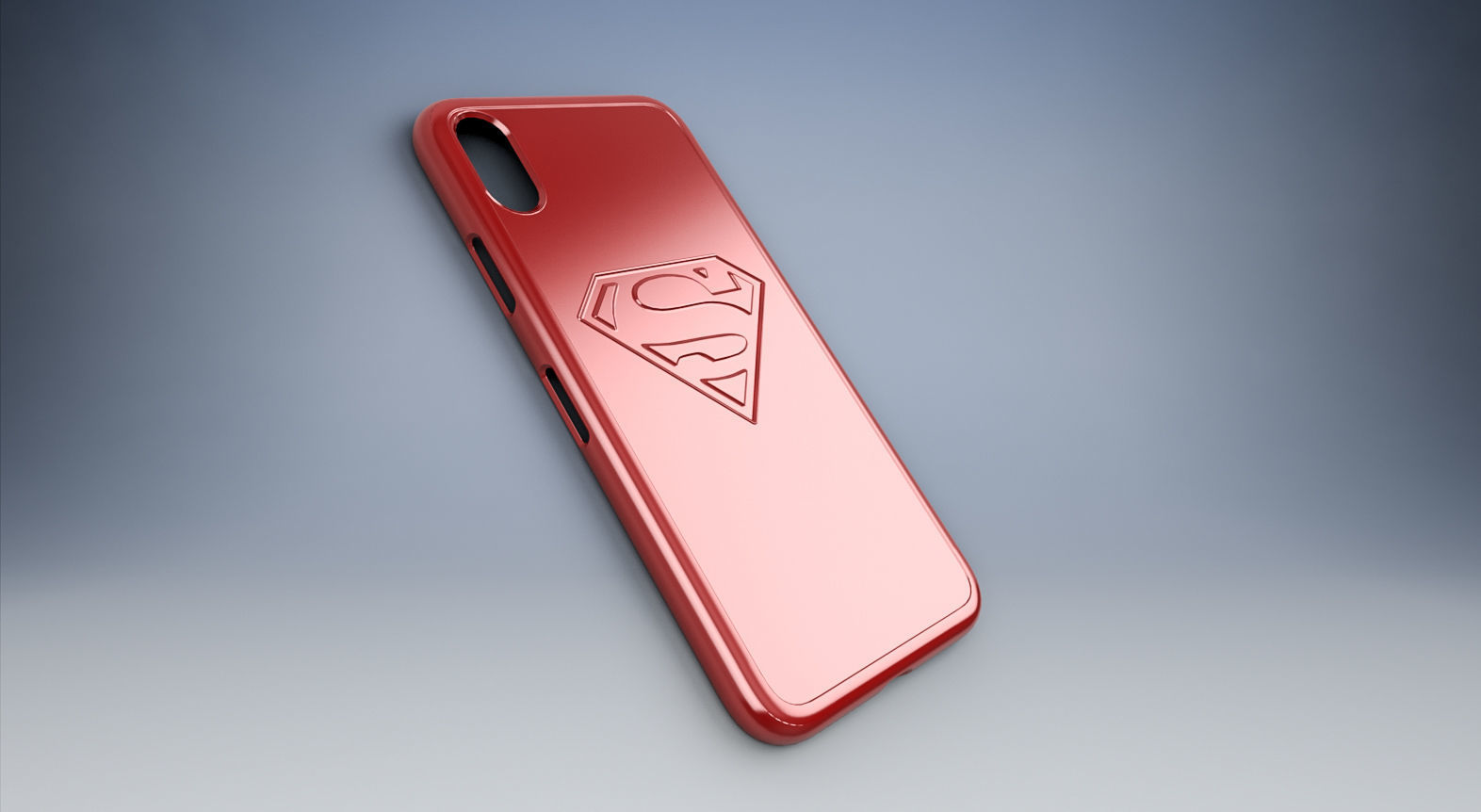 Iphone X Case With Superman Logo 3d Print Model Cgtrader