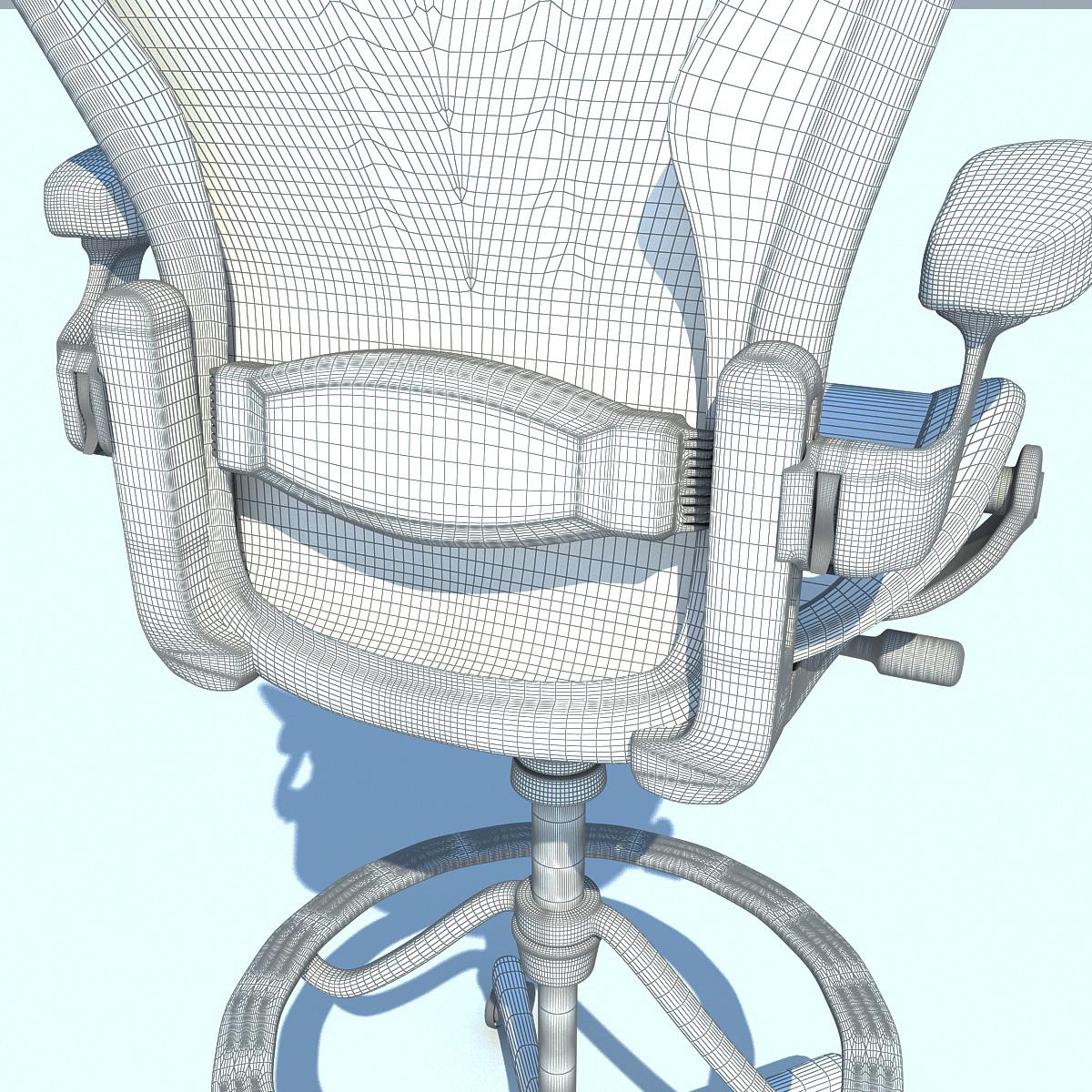 ... aeron work stool chair herman miller 3d model max obj 3ds fbx c4d ma mb 4 ...  sc 1 st  CGTrader.com & 3D model Aeron Work Stool Chair Herman Miller | CGTrader islam-shia.org
