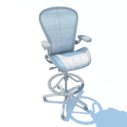 ... aeron work stool chair herman miller 3d model max obj 3ds fbx c4d ma mb 6  sc 1 st  CGTrader.com & 3D model Aeron Work Stool Chair Herman Miller | CGTrader islam-shia.org