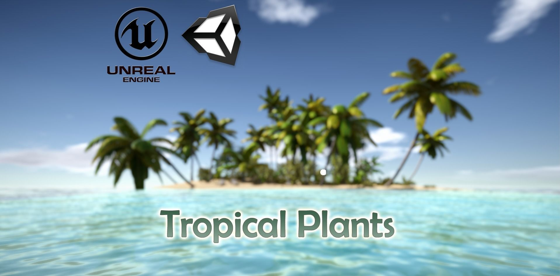 Tropical Plants For Game Engines UE4 asset and Unity3d asset ST