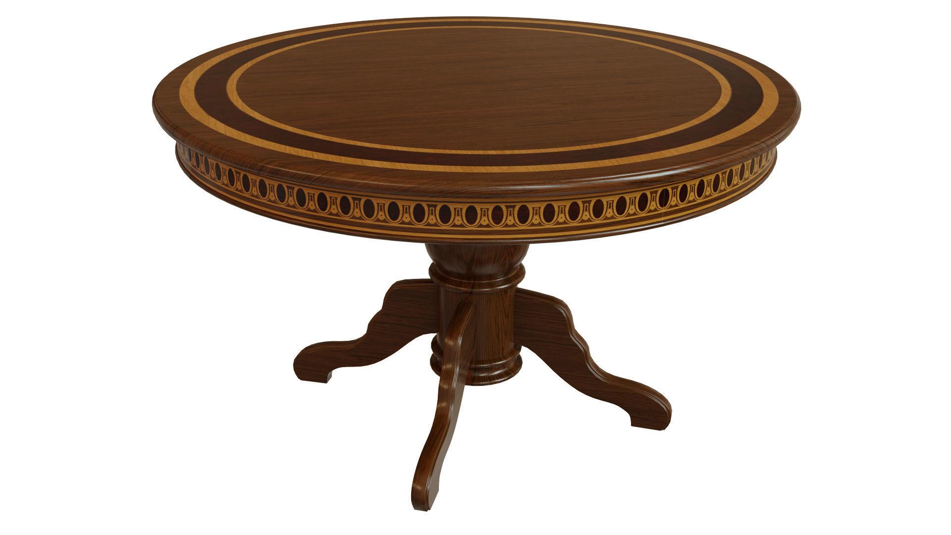 Wooden table with veneers 1200