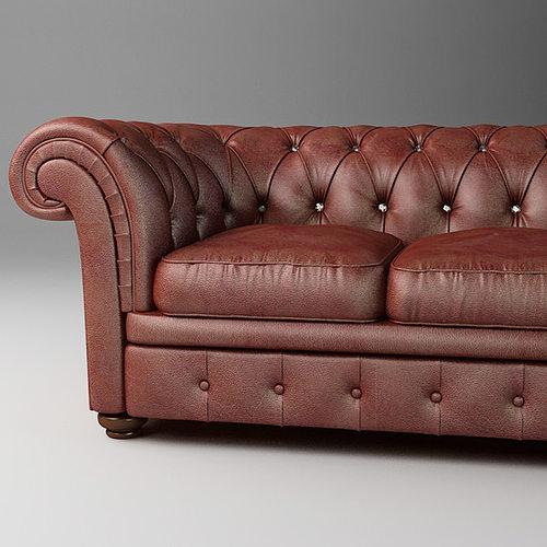 leather sofa relotti armando 3d model max obj 3ds fbx mtl 1