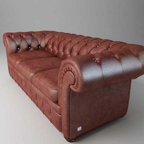 leather sofa relotti armando 3d model max obj 3ds fbx 2