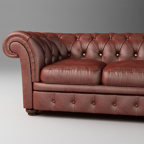 leather sofa relotti armando 3d model max obj 3ds fbx 1