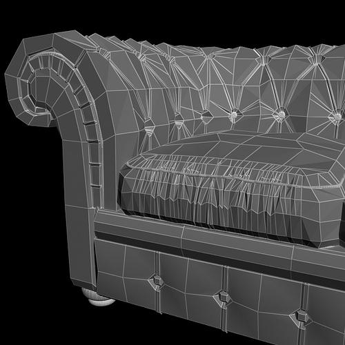 leather sofa relotti armando 3d model max obj 3ds fbx 4
