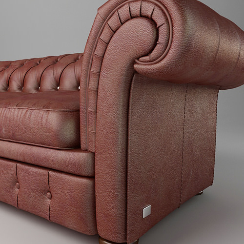 leather sofa relotti armando 3d model max obj 3ds fbx 6