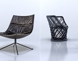 Armchairs collection 3D model