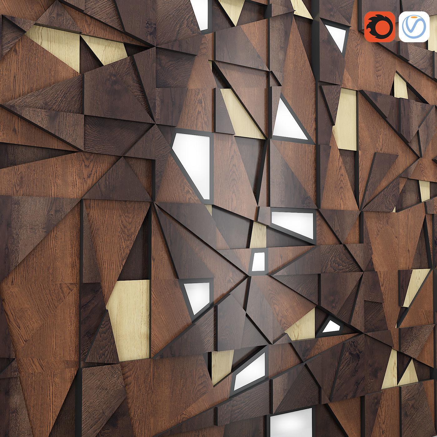 Decor Backlit Wood Panel Model