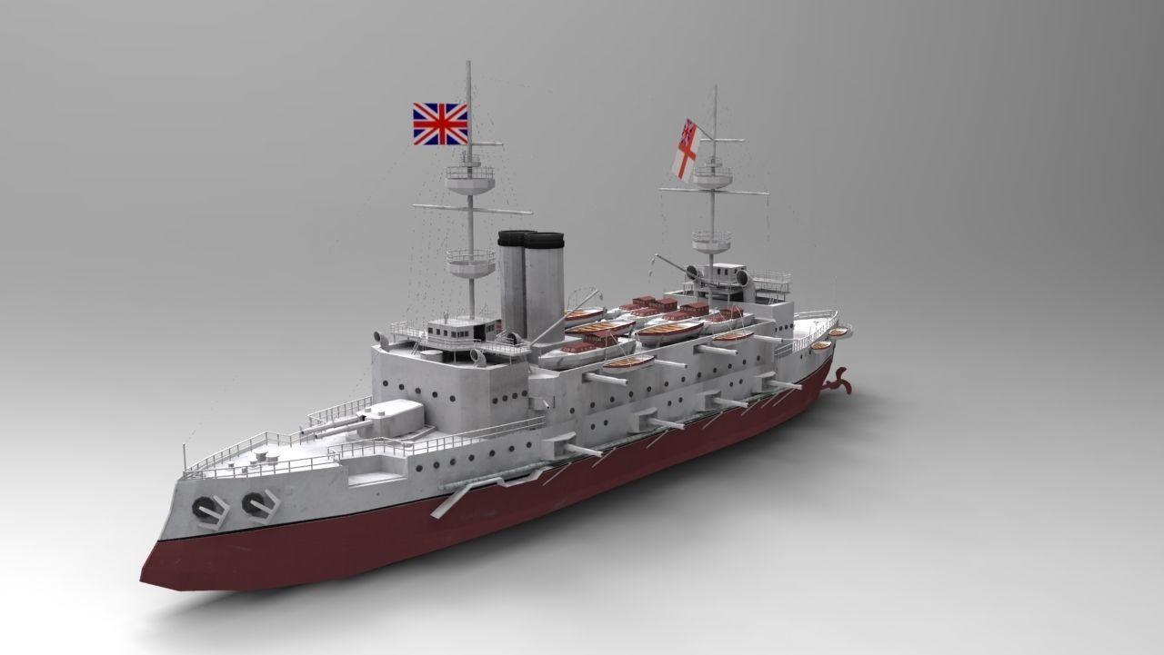 Majestic-class Battleship 3D Model