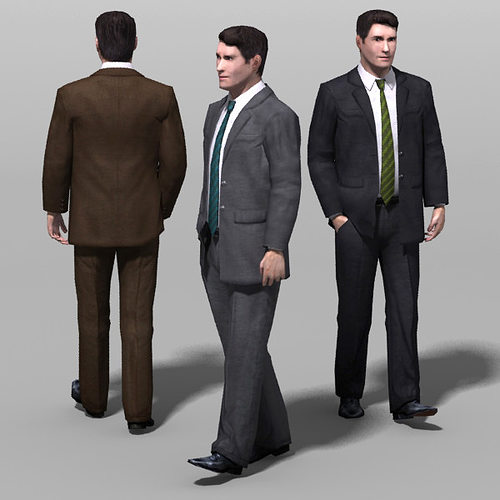 man 01b 3d model low-poly max ma mb 1