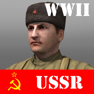 Soviet Soldier and Ppsh 41