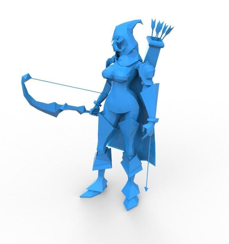 Armoerd archer woman