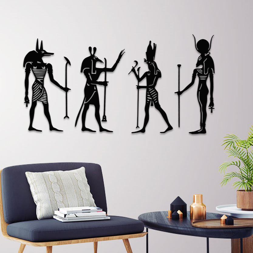 ANCIENT EGYPTIAN GODS WALL ART
