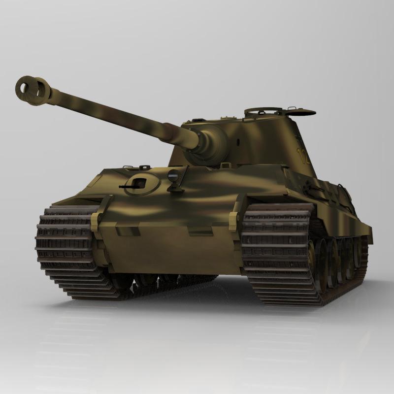 Tiger Tank Interior Model: King Tiger WWII Tank 3D Model OBJ MTL PDF