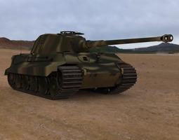 King Tiger WWII Tank 3D Model
