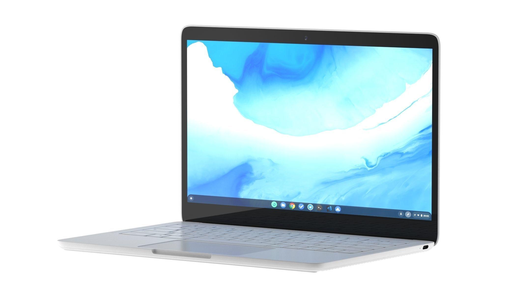 laptop computer model cgtrader