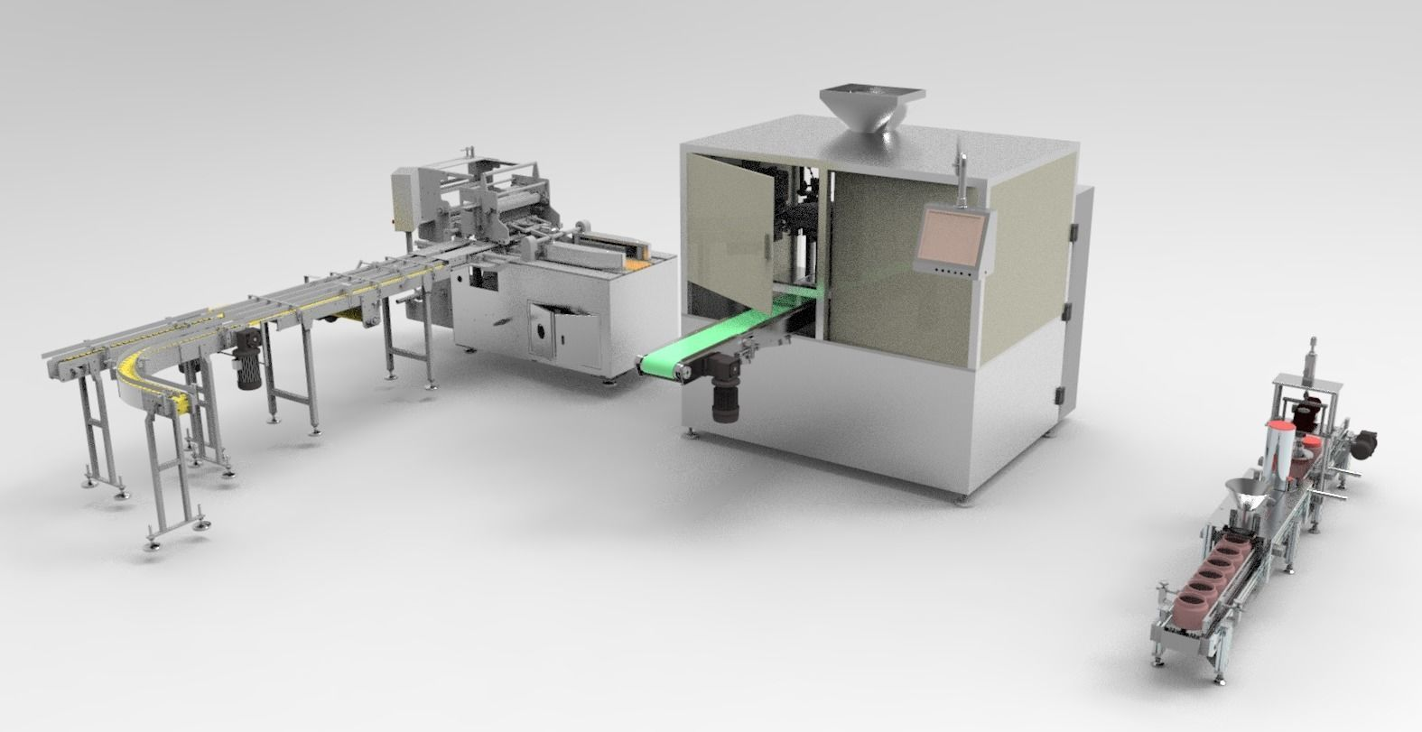 Packing machine assembly