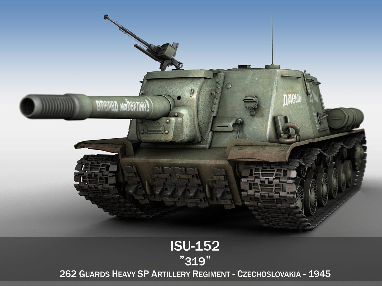 ISU-152 - 319 - Soviet heavy self-propelled gun